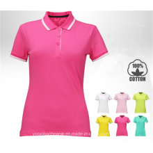 2016 Top Quality Golf T-Shirt Custom Polo for Woman