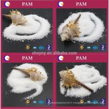 Prix industriel blanc poudre cation polyacrylamide CPAM