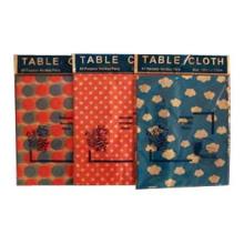 Toile de table PEVA, tissu de table PEVA, housse de table PEVA, housse de table en vinyle