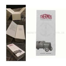 White Plain Logo personnalisé Rigid Paperboard Wine Packing Box