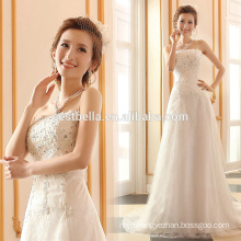 A-Line Silhouette and Sleeveless Design wedding dresses Heavy beading crystal bling bridal wedding dresses