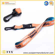 Thin detachable lanyards pure sport brand logo lanyard
