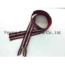 Fermeture à glissière longue de nylon de 5 # avec la bande réfléchissante pour extérieur
