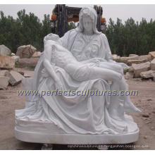 Jardín de piedra tallada Escultura de mármol estatua religiosa para la religión (SY-X1212)
