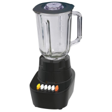 The juicer blender on the kitchen table