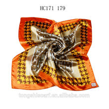 Fashion glitter shawl square scarf with printed for lady