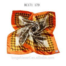 Мода блеск платок квадратный шарф печатных для дамы