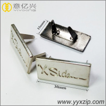 Perle Nickel personalisierte gravierte Namen Metalletikett