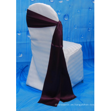 Precio de fábrica silla de boda cubierta satén sash