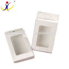 Caixa de encabeçamento de papel varejo de venda quente do costume da impressão com janela