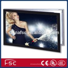 Marco de aluminio anodizado led magnética caja de luz con panel acrílico para publicidad