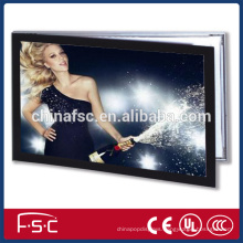 Anodized aluminum frame led magnetic light box with acrylic panel for advertising
