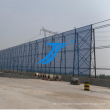 Powder Coated Wind Dust Control Barrier for Coal Pile