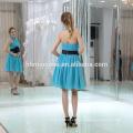 2017 Fashion Classic Designs Blue Short Wholesale Evening Dress