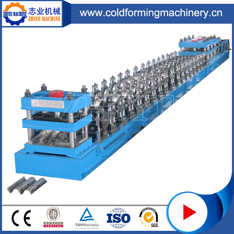 Guaranteed Two Waves Highway Guardrail Roll Forming Machine