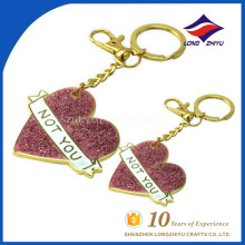 High quality wholesale heart shape powder key ring for sale