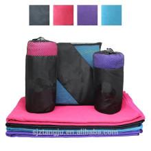 custom logo microfiber sports towel gym towel with pocket