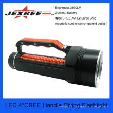JEXREE 40w cree imperméable à l'eau manchette torche de plongée sécurité de la police lampe de poche led