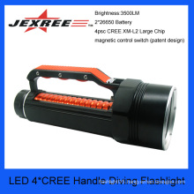JEXREE 40w cree waterproof handle diving torch police security led flashlight