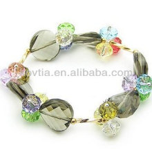 Design exclusivo 2014 populares pulseiras de cristal austríaco de luxo