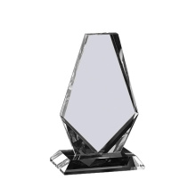 Blank square Crystal Glass Award plaque with custom logo