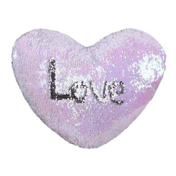 HEART SHAPED SEQUIN PILLOW-0