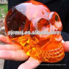 color ful crystal skull ,glass skull for halloween gift and bar decoration