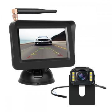 Caméra de voiture sans fil avec moniteur de voiture de 4,3 pouces