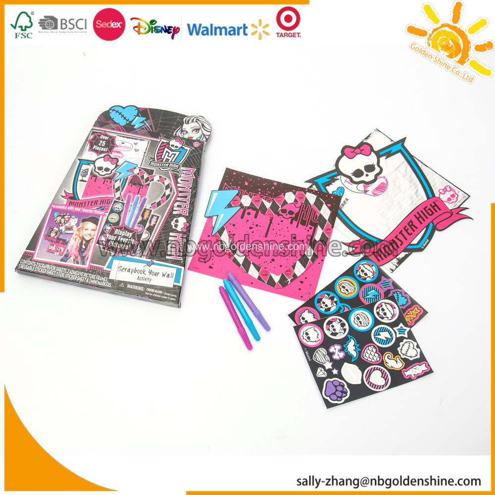 Monster High Scracth Your Wall Activity