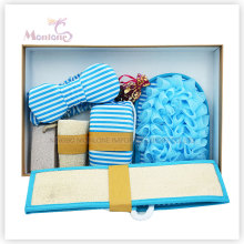 Conjunto de banho de banho azul brilhante