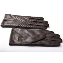 Herrenmode Reißverschluss Leder Motorrad Fahren Handschuhe (YKY5184-3)