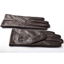 Men′s Fashion Zipper Leather Motorcycle Driving Gloves (YKY5184-3)