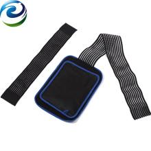 Paquete de gel de hielo reutilizable médico de diseño respirable negro con ajuste ajustable