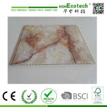 Laminado de la película del PVC WPC Revestimiento interior de la pared y panel de techo y zócalo