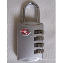 Tsa Combinación de aleación de zinc 4 Dials cerraduras de código de candado (TSA309)