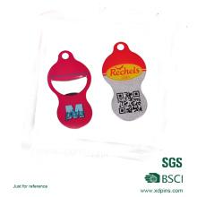 O trole impresso personalizado do logotipo do código de Qr estaciona a moeda