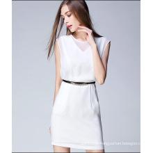2016 nova moda sem mangas mulheres praia vestido de verão