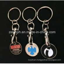 Custom Iron Soft Enamel Double Sides Trolley Coin Keychains