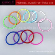 Bracelet en caoutchouc coloré en silicone à la vente chaude