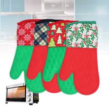 Luvas de silicone e algodão para Natal