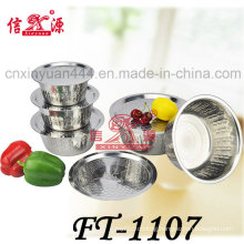 Stainless Steel Finger Bowl with Flat Cover (FT-1107)