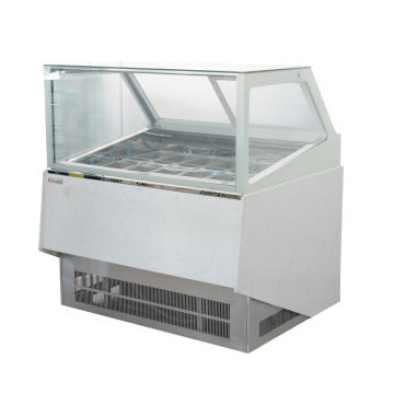 Ice cream showcase 12 pan freezer