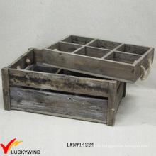 Land gebeizt Trinkflasche Holz Slat Crate