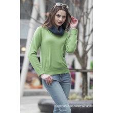 Senhoras ′ camisola de cashmere em torno do pescoço (1500002069)