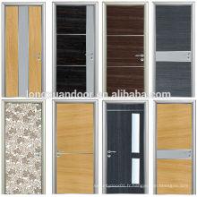 La dernière porte en mélamine Porte en PVC de haute qualité Porte en PVC à chaud