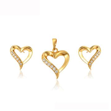 64785 xuping Muttertagsgeschenkherzform 24k vergoldet Dubai Schmuckset
