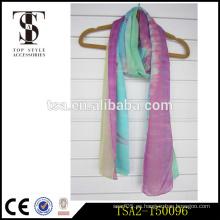 Bufanda de seda púrpura suave hermosa larga del grenn de las combinaciones del color