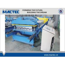 Stahlblechdachziegelrolle der hohen Qualität, die Maschine bildet