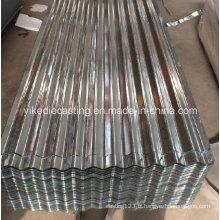 Feuille de toiture en acier ondulée galvanisée enduite de zinc