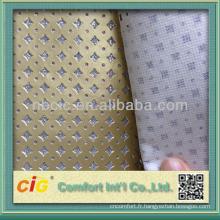 Cuir PU décoratif en cristal métallisé de haute qualité